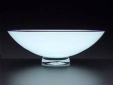 Pale Blue Bowl with Blue Lip by Nicholas Kekic (Art Glass Bowl)