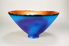 Purple-Blue Prosperity Bowl (No.8) by Cheryl Williams (Ceramic Bowl)