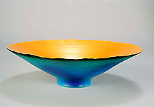 Blue-Green Prosperity Bowl (#9) by Cheryl Williams (Ceramic Bowl)