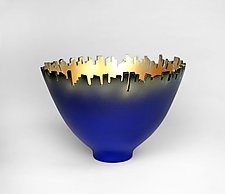 Around Town - Blue by Cheryl Williams (Ceramic Bowl)