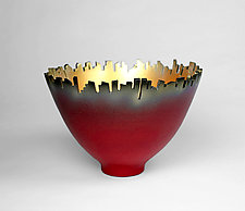 Around Town - Red by Cheryl Williams (Ceramic Bowl)
