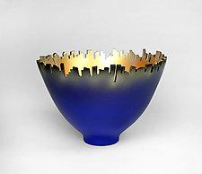 Around Town - Blue by Cheryl Williams (Ceramic Bowl)