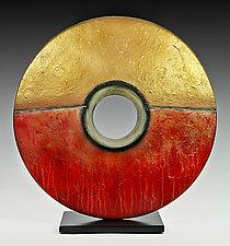 Golden Sunburst by Cheryl Williams (Ceramic Sculpture)