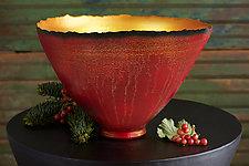 Cascading Light Prosperity Bowl by Cheryl Williams (Ceramic Bowl)