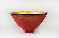 Cascading Light Prosperity Bowl by Cheryl Williams (Ceramic Bowl)