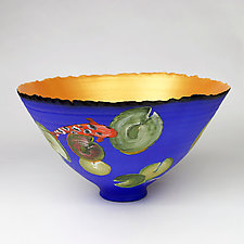 Swimming Among Lily Pads by Cheryl Williams (Ceramic Bowl)