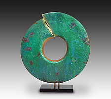 Wisdom with Green Patina by Cheryl Williams (Ceramic Sculpture)