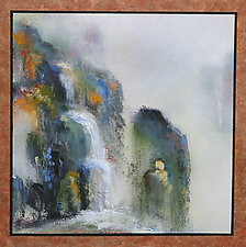 Morning Mist and Waterfalls by Cheryl Williams (Acrylic Painting)