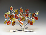 Fall Tree by Bandhu Scott Dunham (Art Glass Sculpture)