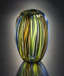 Barrel Vase by Tracy Glover (Art Glass Vase)