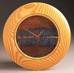 Ash Wall Clock by Peter F. Dellert (Wood Clock)