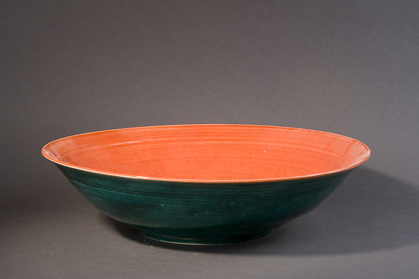 Forest Green and Scarlet Bowl