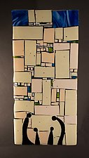 Western Wall Humble by Vicky Kokolski and Meg Branzetti (Art Glass Wall Sculpture)