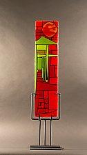 Home III by Vicky Kokolski and Meg Branzetti (Art Glass Sculpture)
