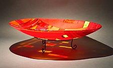 It Takes a Village II by Vicky Kokolski and Meg Branzetti (Art Glass Bowl)