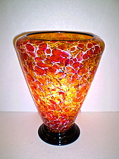 Red and Yellow Lamp by Curt Brock (Art Glass Table Lamp)