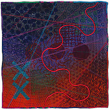 Mapforms #4 by Michele Hardy (Fiber Wall Hanging)