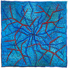 Geoforms: Fractures #5 by Michele Hardy (Fiber Wall Hanging)