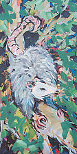 Opossum Looking Left by Shannon Bueker (Acrylic Painting)