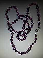 Violet Faceted Pearl Necklace by Diana Lovett (Jewelry Necklace)