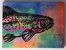 Trout: Rainbow #3 by Michele Hardy (Acrylic Painting)