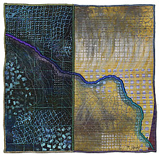 Mapforms #12 by Michele Hardy (Fiber Wall Hanging)