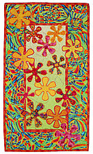 Flower Power II by Michele Hardy (Fiber Wall Hanging)
