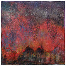 Elements #13: Wildfire by Michele Hardy (Fiber Wall Hanging)