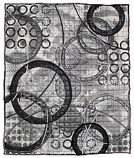 Circles No.31 by Michele Hardy (Fiber Wall Hanging)