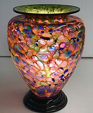 Blown Glass Lamp III by Curt Brock (Art Glass Table Lamp)