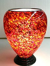 Blown Glass Lamp VII by Curt Brock (Art Glass Table Lamp)
