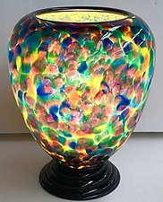 Blown Glass Lamp X by Curt Brock (Art Glass Table Lamp)