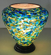 Blown Glass Lamp XII by Curt Brock (Art Glass Table Lamp)