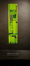 Windows Green by Vicky Kokolski and Meg Branzetti (Art Glass Sculpture)