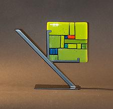 Green Tiles by Vicky Kokolski and Meg Branzetti (Art Glass Sculpture)