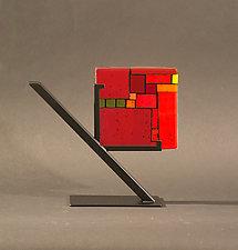 Red Tiles by Vicky Kokolski and Meg Branzetti (Art Glass Sculpture)