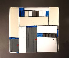 Gray Doors by Vicky Kokolski and Meg Branzetti (Art Glass Wall Sculpture)