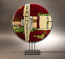 Above the Street by Vicky Kokolski and Meg Branzetti (Art Glass Sculpture)