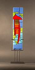 Home I by Vicky Kokolski and Meg Branzetti (Art Glass Sculpture)