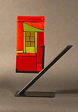 Mini Home Red II by Vicky Kokolski and Meg Branzetti (Art Glass Sculpture)