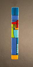 House Party Blue III by Vicky Kokolski and Meg Branzetti (Art Glass Wall Sculpture)