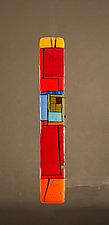 House Party VII by Vicky Kokolski and Meg Branzetti (Art Glass Wall Sculpture)