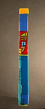House Party Blue VIII by Vicky Kokolski and Meg Branzetti (Art Glass Wall Sculpture)