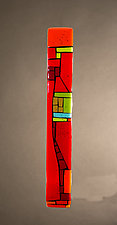 House Party Red VII by Vicky Kokolski and Meg Branzetti (Art Glass Wall Sculpture)