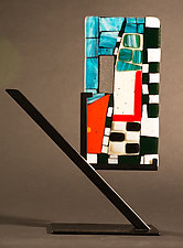 Mini Art Your Turn by Vicky Kokolski and Meg Branzetti (Art Glass Sculpture)