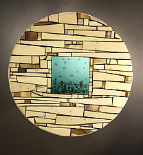 Portal II by Vicky Kokolski and Meg Branzetti (Art Glass Wall Sculpture)