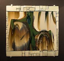 Reactions XII by Vicky Kokolski and Meg Branzetti (Art Glass Wall Sculpture)