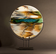 Reactions XV by Vicky Kokolski and Meg Branzetti (Art Glass Sculpture)
