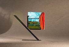 Garden Tile by Vicky Kokolski and Meg Branzetti (Art Glass Sculpture)