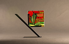 Garden Tile II by Vicky Kokolski and Meg Branzetti (Art Glass Sculpture)